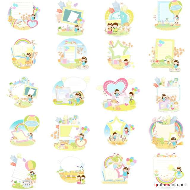 Children vector 2