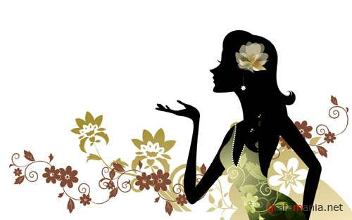 Digital Art Girls Silhouettes Wallpapers