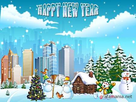 Happy New Year PSD Template