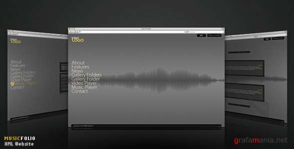 Flashden XML Website Perfect for musician