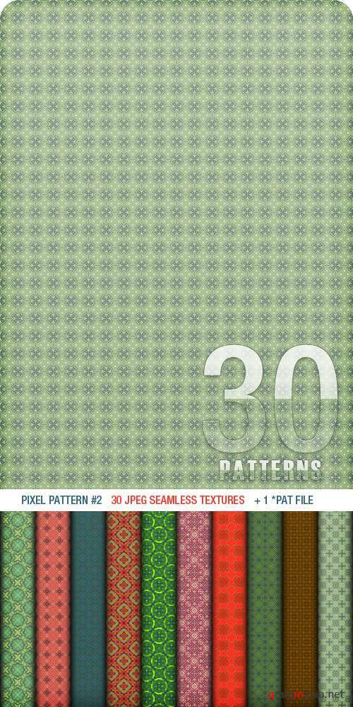 ������� ��� Photoshop - Pixel Pattern #2 (+ Seamless Textures)