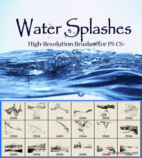 Water Splashes Brushes
