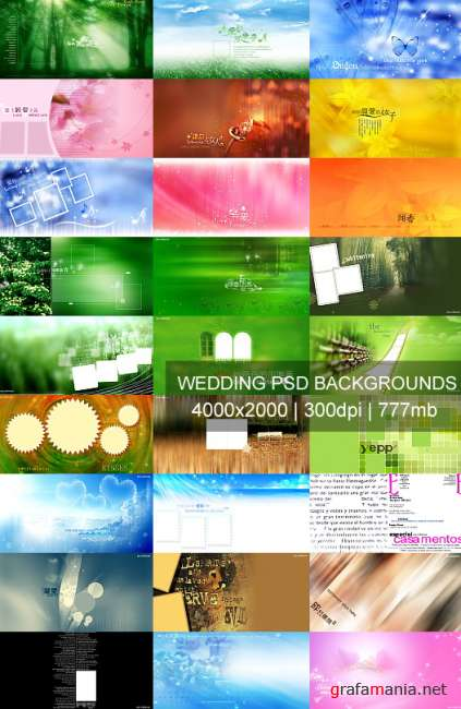 Wedding PSD Backgrounds