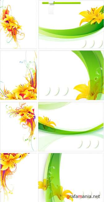 Vector Yellow flowers