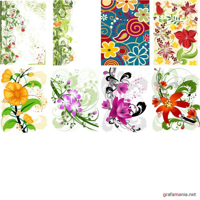 8 Floral Vector