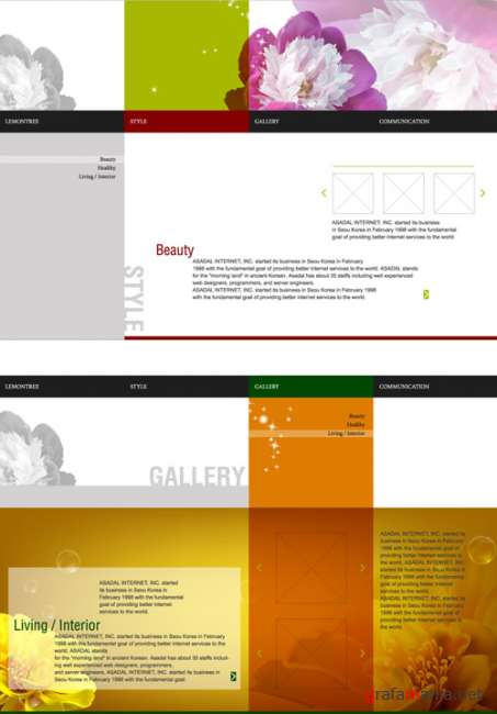 Template pages vector