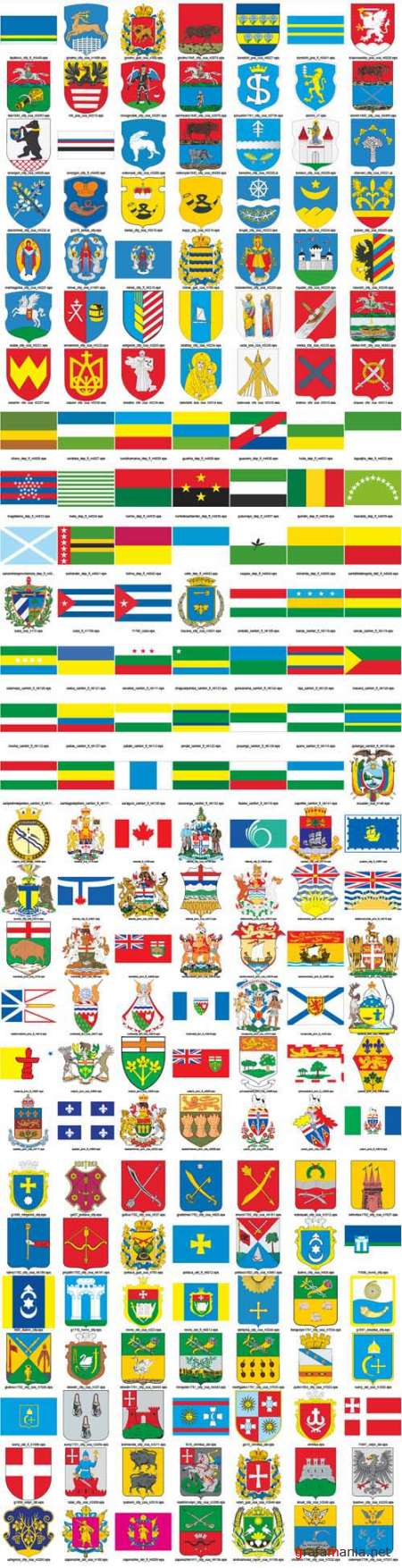 Flags and arms