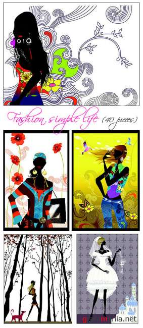 Fashion Simple Life - Vector clipart
