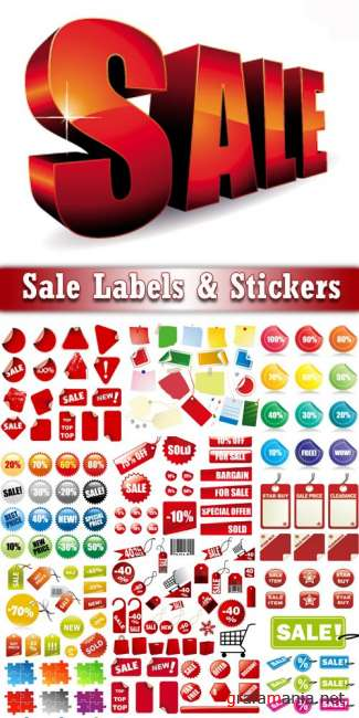 Sale Labels & Stickers Vector