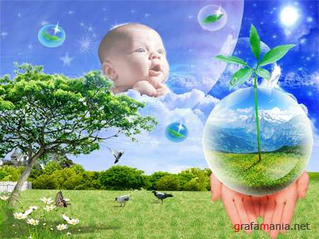 Heaven Child PSD Template
