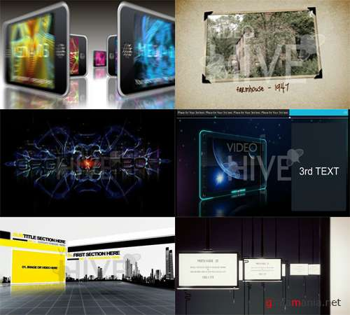 VideoHive set - 6 After Effects projects