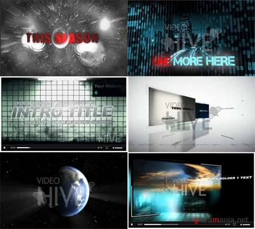VideoHive set 2 - 6 After Effects projects