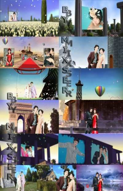 Xiying - 3D movie albums 19 (AE project)
