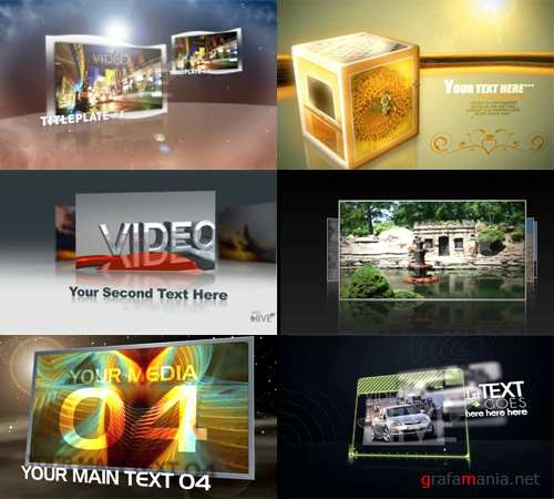 VideoHive set 4 - 6 After Effects projects