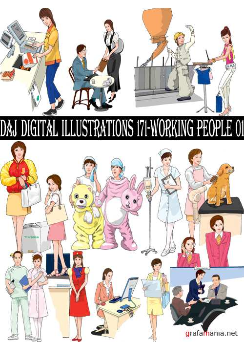 DAJ Digital Illustrations 171-Working People 01
