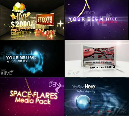 VideoHive set 5 - 6 After Effects projects
