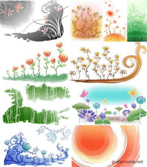 Floral Backgrounds 1