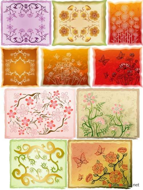 Floral Backgrounds 4