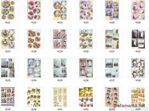 Piramides B � decoupage for cardmakers