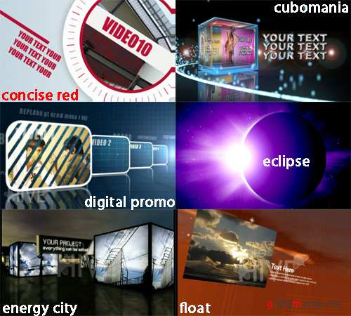 VideoHive set 6 - 6 projects