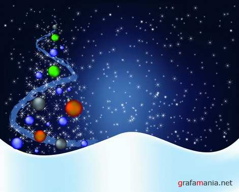 Vector - New Year and Christmas background Pack#3