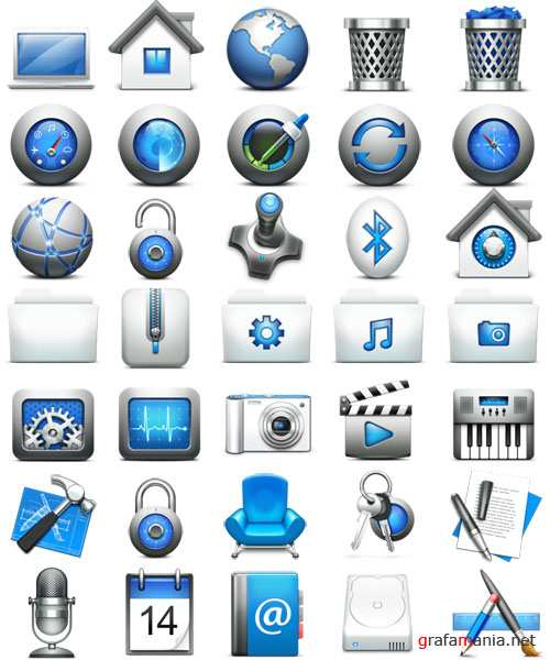 Mac OS X style icon pack