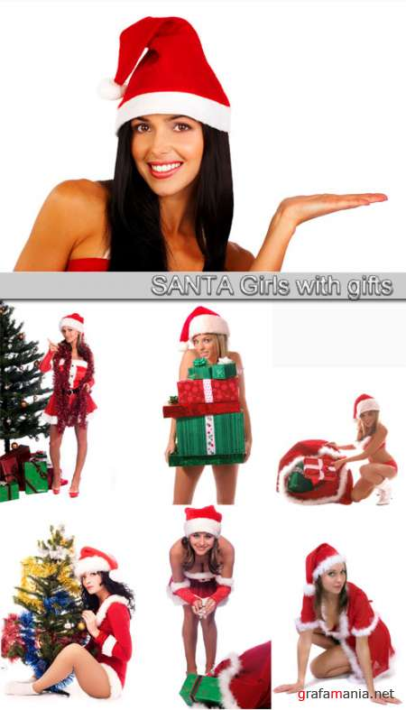Santa Girls with gifts