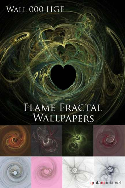 Flame Fractal Wallpapers  Wall000