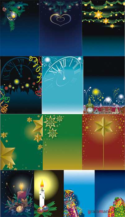 Christmas Vector Backgrounds 5