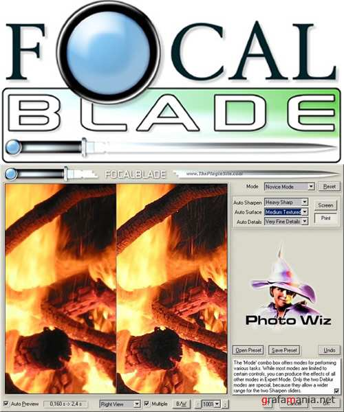 PhotoWiz FocalBlade v1.07 for Adobe Photoshop Retail x86x64 + Руссификатор