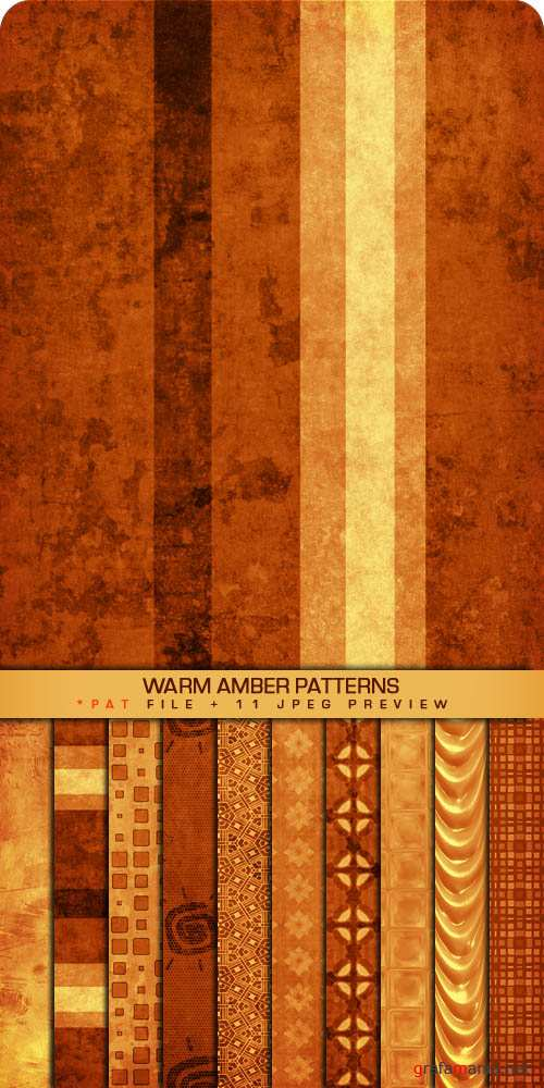 ������� ��� Photoshop - Warm Amber Patterns