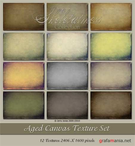 Текстуры – Aged Canvas Texture Set