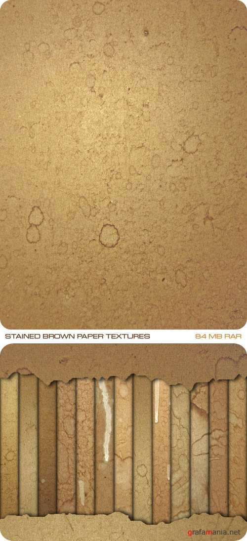 Текстуры - Stained Brown Paper Textures