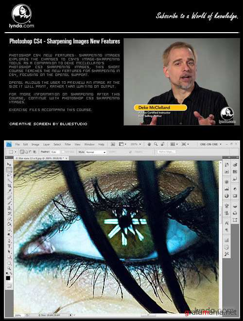 Adobe Photoshop CS4 Sharpening Images New Features