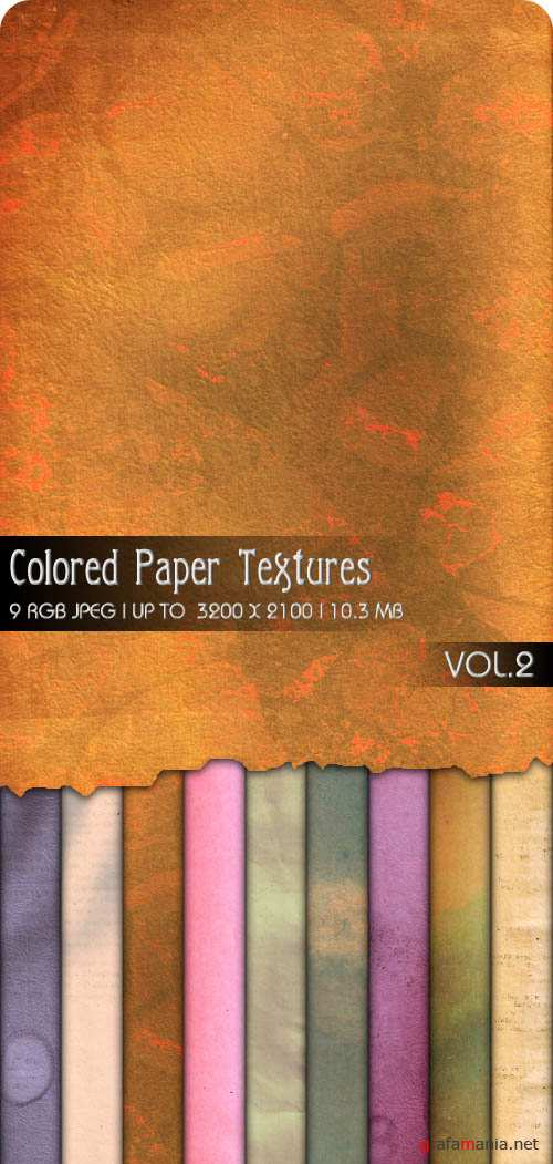Текстуры - Colored Paper Textures #2