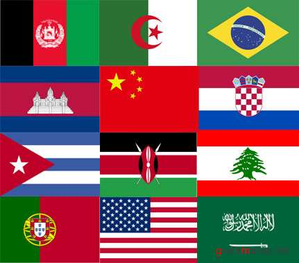 The World flags