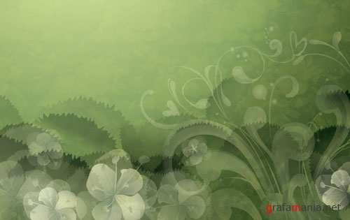 Green vector backgrounds