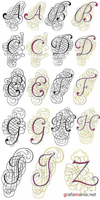 "Beautiful painted Alphabet in the vector ""Fantasia"""
