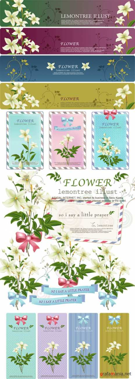 ��������� ������� - Flower Design Element #2