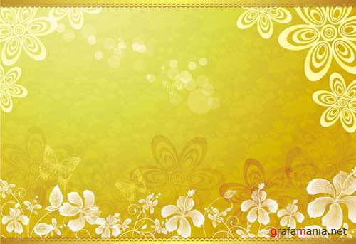 Yellow vector backgrounds