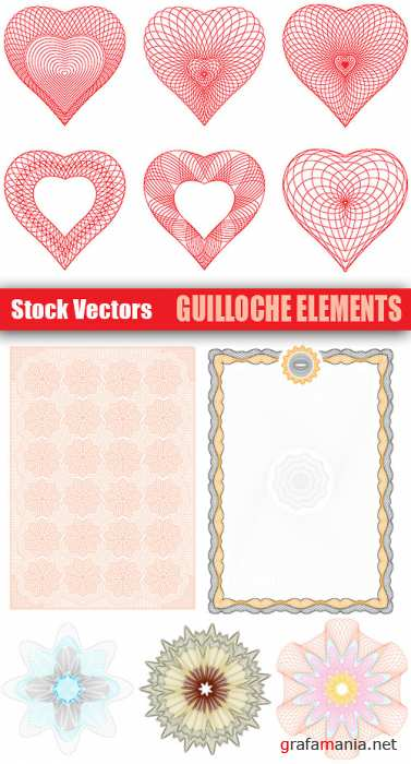 Stock Vectors - Guilloche Elements