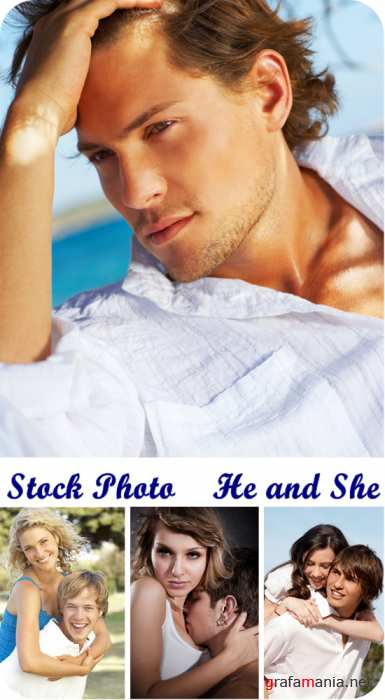 Stock Photo  He and She