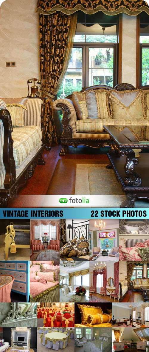 Stock Photo - Vintage Interiors
