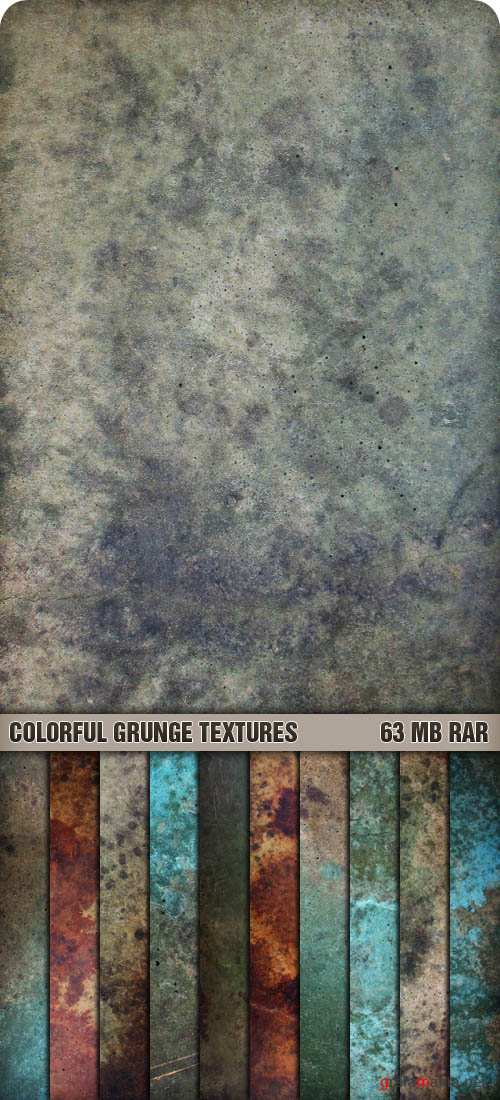 Текстуры - Colorful Grunge Textures