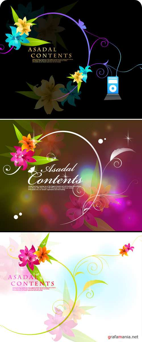 ��������� ������� - Floral Backgrounds