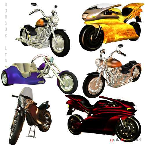 Motorcycles PSD