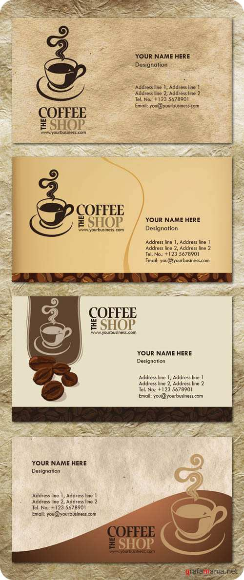 Business Card PSD Templates - Coffee