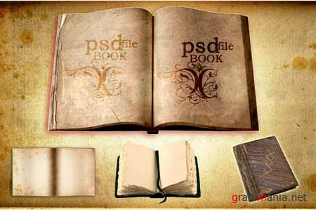 PSD-Old books