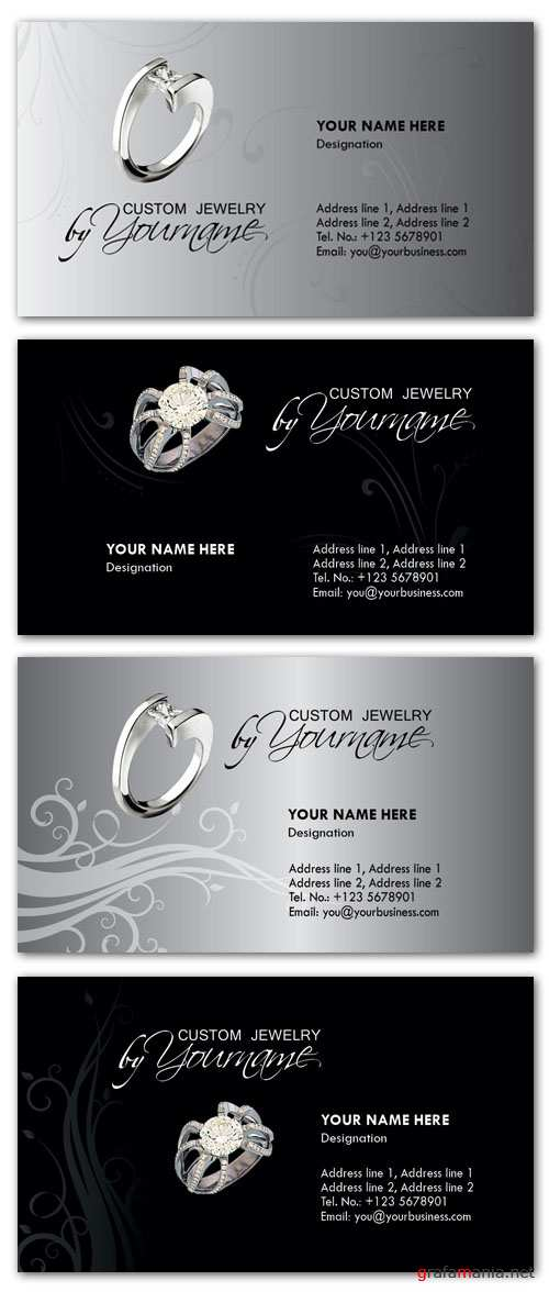 Business Card PSD Templates - Jewelry