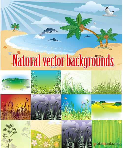 Natural vector backgrounds